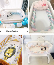 Infant Plush Crib Bumper Bed Bedding Cot Braid Pillows Pad Protector