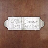 BEST TEACHER Door Sign Plaque Signage Personalised Name/Room Acrylic Mirror Gift