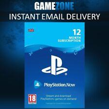 PlayStation Now - 12 Month Membership - PS4 - 1 Year PSN Download Code - UK