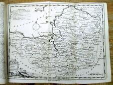 Original 1749 news magazine w MAP & LONG Description of SOMERSETSHIRE England