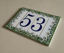 Modulo Numero civico in ceramica antigelivo. Numeri civici Made in Italy