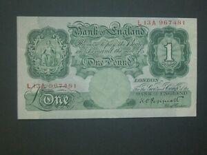 **Superb 1948 £1 'L13A'  Crisp & Clean** 'GVF'+  Peppiatt ** Banknote ***