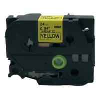 1PK Black on Yellow Label Tape Compatible for Brother P-Touch TZ651 TZe 651 24mm