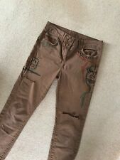 Jeggings Ripped & Graffitied size 10/12 jeans