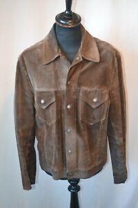 Vintage 1960's Levi's Big E western wear suede trucker jacket size large rare