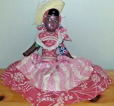 "Vintage 15"" Jamaican composition head soft body doll"