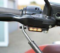 Motorrad led Blinker getönt + Blinkergehäuse eloxiert E-geprüft Lenkerarmaturen