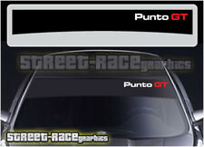 SS838 Fiat sunstrip graphics stickers decals windscreen sun visor Punto GT