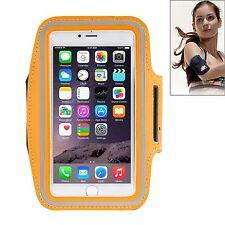 Custodia cover fascia braccio fitness ARANCIONE jogging per Iphone 6 plus