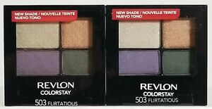 (2-PACK) Revlon ColorStay 16 Hour Eye Shadow Quad, #503 FLIRTATIOUS ☆NEW-SEALED!