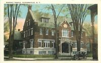 Auto C-1910 Masonic Temple Gloversville New York postcard 9860
