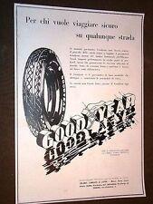 Pubblicità d'Epoca per collezionisti Pneumatici Goodyear + Olio Mobiloil