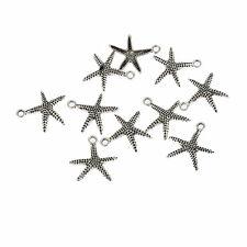 Starfish sea star Tibetan Silver Bead charms Pendants fit bracelet 10pcs 20*17mm