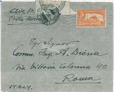 GIBRALTAR -  POSTAL HISTORY: COVER to ITALY with POST OFFICE SEAL - 1952