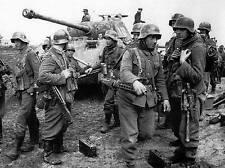 WWII B&W Photo German Troops Stg44 MG42 Wehrmacht World War Two WW2 / 2034