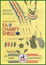 1985 CHARITY SHIELD - EVERTON v MAN UTD