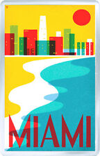 MIAMI USA SERIES FRIDGE MAGNET SOUVENIR NEW