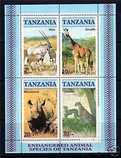 Tanzania 1986 Endangered Animals MS SG 483 MNH