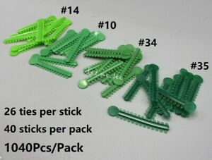 1040Pcs/Pack Dental Orthodontic Elastic Ligature Ties Rubber Bands Brace Green