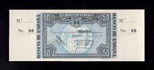 F.C. BANCO DE BILBAO , 50 PESETAS 1937 , S/C- , CON MATRIZ , MANCHITAS .