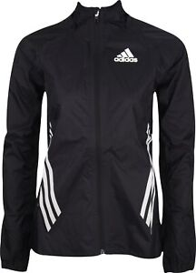 adidas Adizero Performance Rain Womens Running Jacket Black Waterproof Hooded