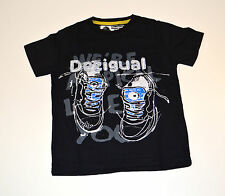 Desigual Boys Printed T Shirt - BLACK - SIZES 4, 5, 7, 9 & 11  YEARS - NEW