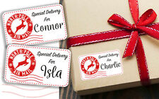 Personalised Christmas Present Stickers Gift Labels Special Delivery From Santa