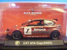 Alfa Romeo 147 in (approx. 373.38 cm) Rojo GTA Taza 2003 producto en escala 1:43rd. Colección Alfa