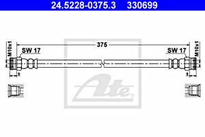 ATE Brake Hose For FIAT Strada 46535901