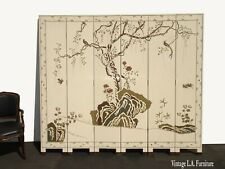 Six Panel Screen Coromandel Chinese Asian Lacquer Room Divider Chinoiserie 2side