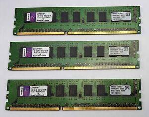 Lot of 3 Kingston KTH-PL313ES/2G 6GB Total (3x2GB) 240-Pin SDRAM ECC DDR3-1333