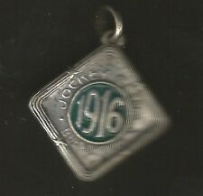 Argentina Jockey Club Medal Horse Racing 1916 Enameled