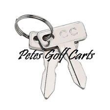 CLUB CAR GOLF CART KEYS DS OR PRECEDENT 1982 + GAS OR ELECTRIC