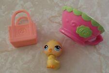 Littlest Pet Shop Cat Dog Accessory Lot Easter Basket Gift Set Duck Chick