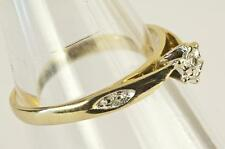 A SOLID 9ct GOLD NATURAL DIAMOND SOLITAIRE ENGAGEMENT RING SIZE N, HALLMARKED