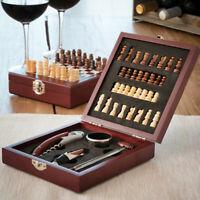 Ensemble d'accessoires à vin et échiquier en coffret - Pour fans d'échecs - Neuf