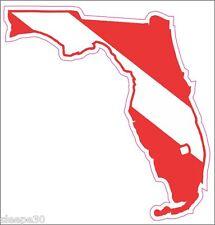 Florida Dive Sticker Diver Down Dive Flag Sticker Decal