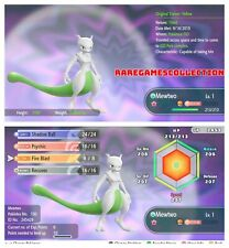 Pokemon Let's Go Pikachu & Eevee ✨ SHINY ✨ 6 IVs 1 LEVEL MEWTWO FAST DELIVERY