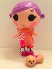 """Lalaloopsy Squirt Lil Top Little Sisters 8 """"Doll Clown Pet Peanut Toy Retired"""