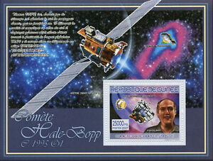 Guinea Space Stamps 2007 MNH Hale-Bopp Comet Comets Thomas Bopp 1v S/S I