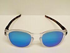 Authentic Oakley OO9265 Latch Clear Tortoise Sapphire Iridium Polarzd Sunglasses