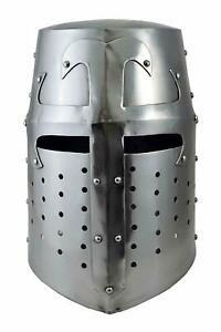 Hollywood Crusader Medieval Armor Helmet Templar Knight Helmet.