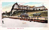 Sea Beach Hotel, Santa Cruz, California, Early Postcard, Unused