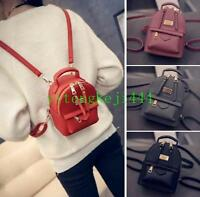 Women's Faux Leather Convertible Backpack Small Mini Rucksack Cute bag Purse New