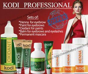 Kodi - Henna / Paint / Balm / Oxidant for eyebrows and eyelashes Black, Brown...
