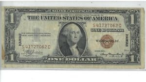 1935-A Hawaii One Dollar Silver Certificate 174867p