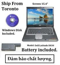 Dell D830, HD 500 GB, CPU @2.5 GHz T9300 64 Bits, Ram 4 GB, Windows 10 Pro.