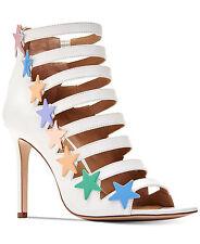 NIB Katy Perry Womens Stella Heeled White w Starts Studded Sandal Sz 8.5M $139