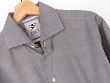 rp2386 Hackett Camicia slim maglia VINTAGE QUADRI GRIGIO ORIGINALE Premium