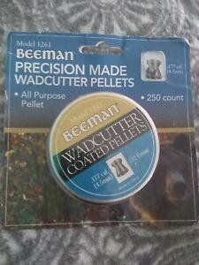 PELLET GUN  250 PELLETS WADCUTTER AMMO Plinking .177 Beeman NEW FREE SHIPPING